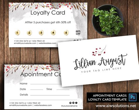 loyalty st card template premade business card template name card template