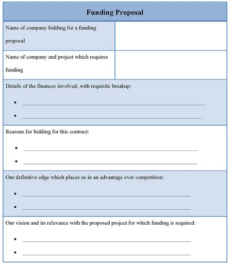Funding Proposal Template Of Funding Proposal Sle Templates Funding Template