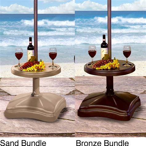 umbrella stand table base shademobile rolling umbrella base with table shelf