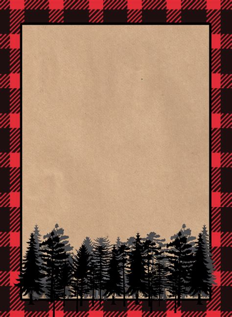 printable paper invitations lumberjack invitation free printable paper trail design