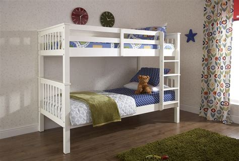 Gfw Novaro White Wooden Bunk Bed By Gfw White Bunk Bed Uk