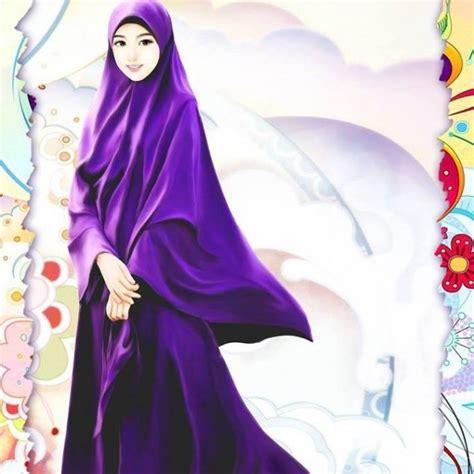 foto anime kartun berhijab 8 gambar muslimah berhijab syar i kartun yang abis