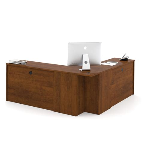 Bestar Hton Corner Desk Embassy Corner Desk In Tuscany Brown