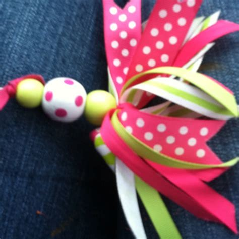 keychain   ribbon  wooden beads  designs
