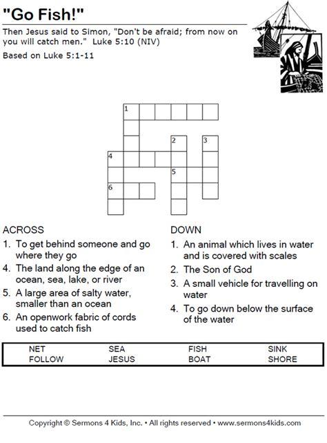 fishing boat crossword answer go fish crossword puzzle