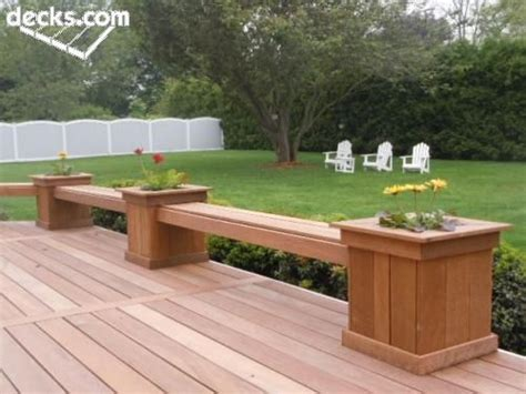 Planters With Bench Seating by Planter Boxes With Bench Seating Deck Ideas