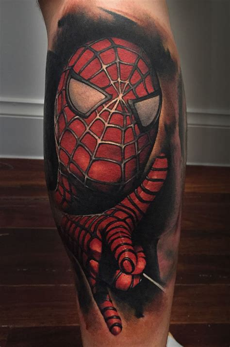 spider man tattoos portraits