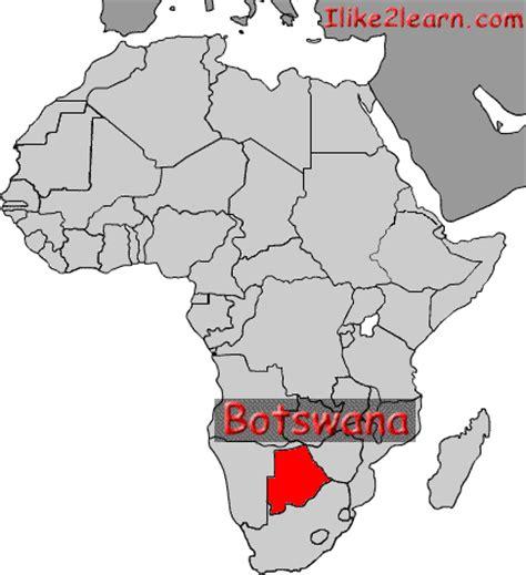 botswana on a world map botswana