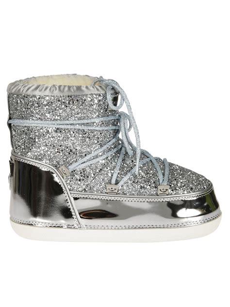 chiara ferragni glitter boots chiara ferragni 30mm glitter snow boots silver modesens