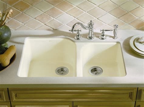undermount kitchen sink with faucet holes standard plumbing supply product kohler k 5931 4u k4