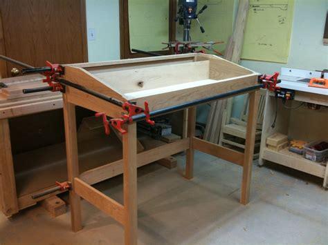 Plans For Standing Desk by Standing Desk By Scottt Lumberjocks Woodworking