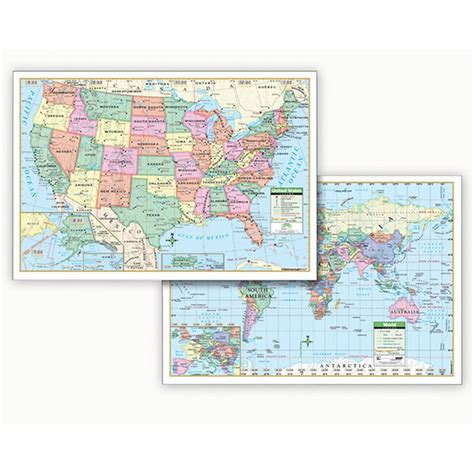 map usa rolled us world politcal rolled map set 40 x 28 uni2517627