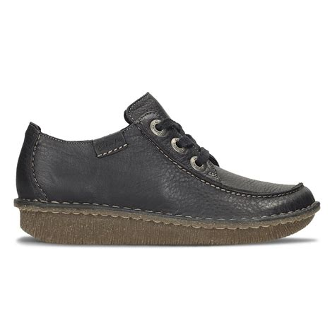 clarks womens navy leather casual shoes