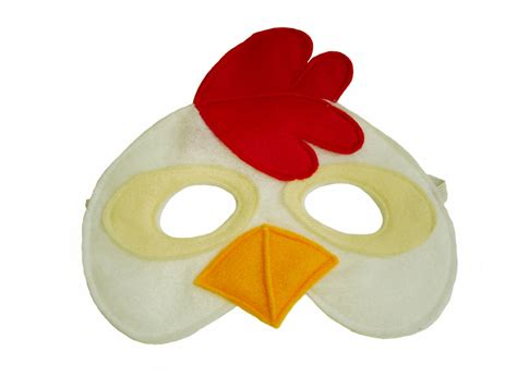 children s farm barnyard animal chicken felt mask
