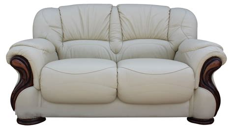 settee sofas susanna italian leather 2 seater sofa settee cream offer