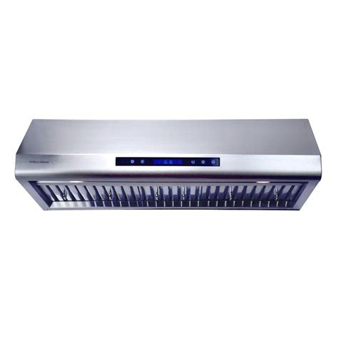 stainless steel under cabinet range hood winflo 30 in 250 cfm under cabinet range hood in