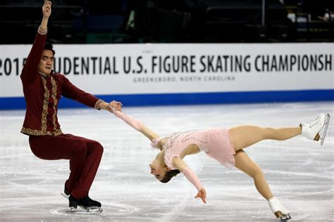 ice skateing duos american figure skating duo aaron and settlage call time