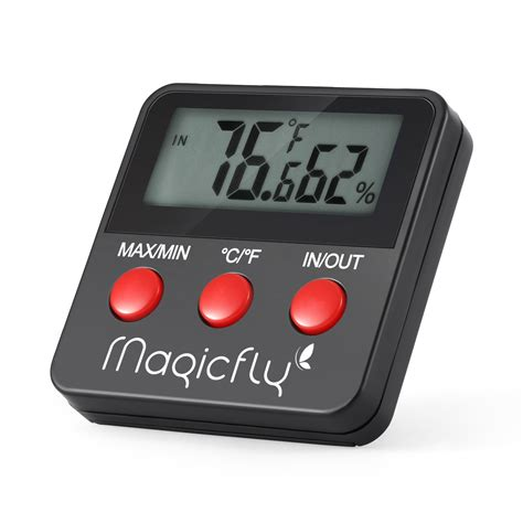 Mini Digital Thermometer Waterproof Probe Hitam mini digital thermometer hygrometer humidity probe for egg