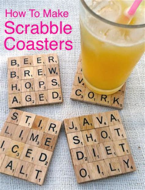 make your own scrabble how to make scrabble coasters homestead survival