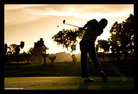 golf swing wallpaper golf swing on sunset by aphaits on deviantart