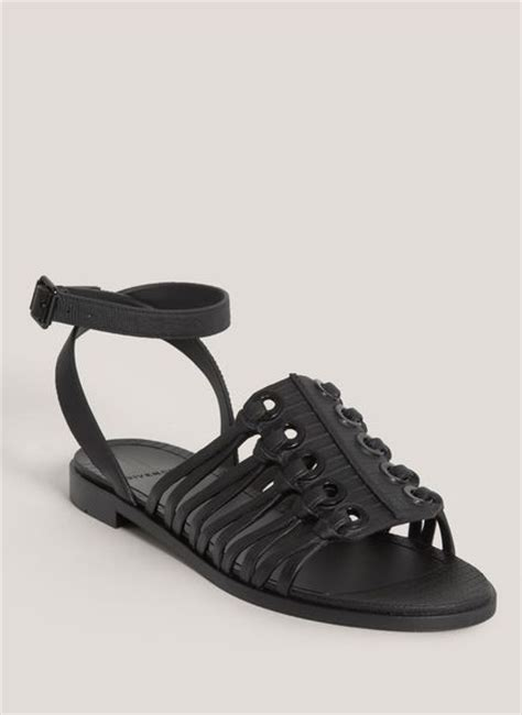 black flat jelly shoes givenchy jelly flat sandals in black lyst