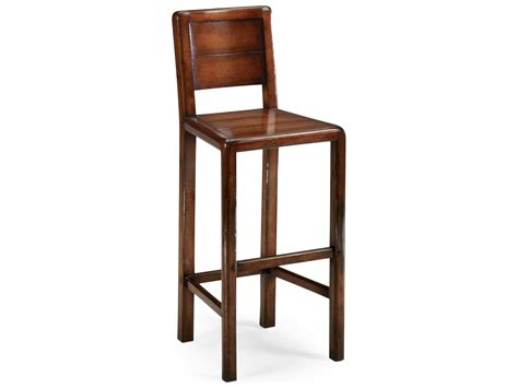Farmhouse Bar Stool by Jonathan Charles Country Farmhouse Medium Walnut Country