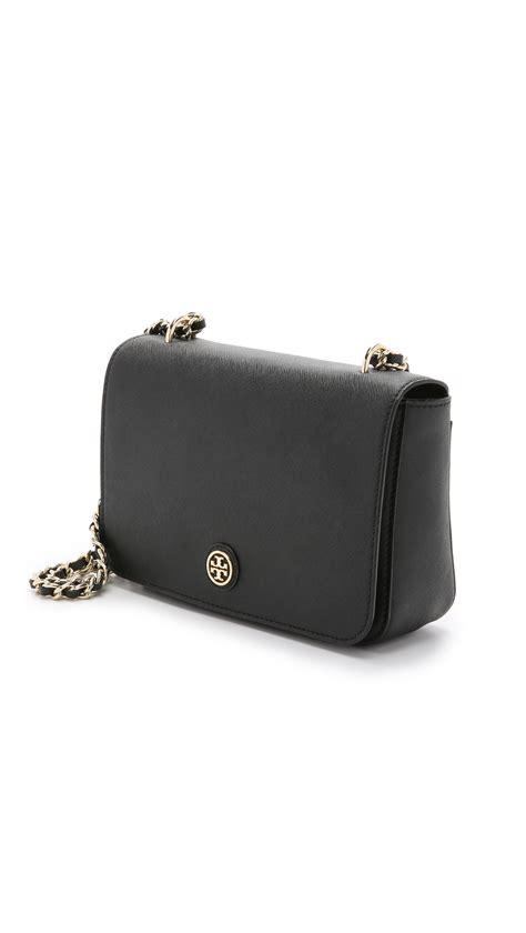 Burch Robinson Adjustable Shoulder Bag 1 burch robinson adjustable shoulder bag black in black lyst