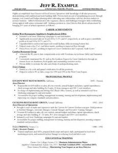 Exles Of Food Service Resumes by Resume Sles Types Of Resume Formats Exles And Templates