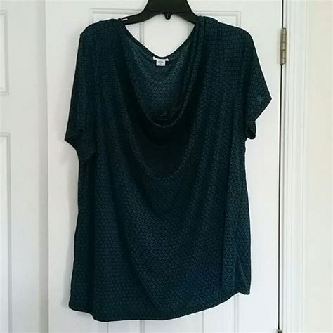 drape neck top pattern dark teal drape neck blouse dark teal color with a black diamond pattern you can see in the