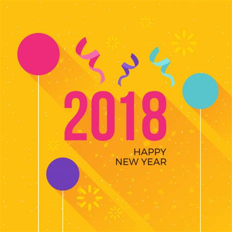 modern happy  year  celebration card vector