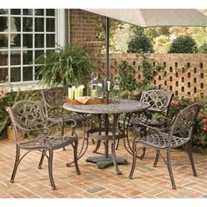 Metal Patio Dining Sets Shop Home Styles Biscayne 5 Rust Brown Aluminum Patio Dining Set At Lowes