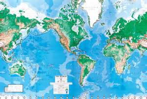 World Wall Maps by World Map Wall Mural