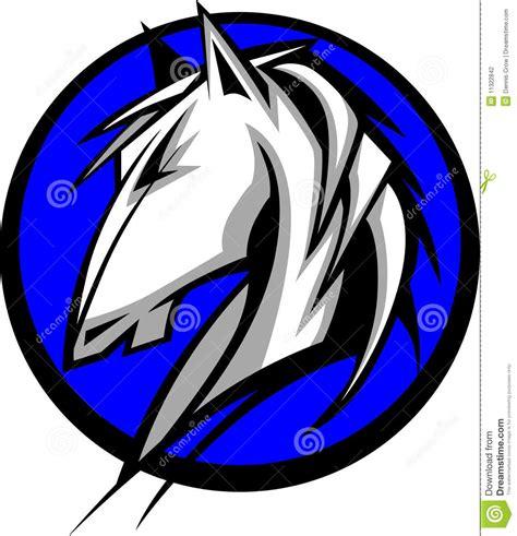 mustang horse logo horse mustang bronco mascot logo stock vector image