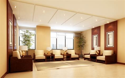 home interior design of hall company reception hall design rendering 3d house free