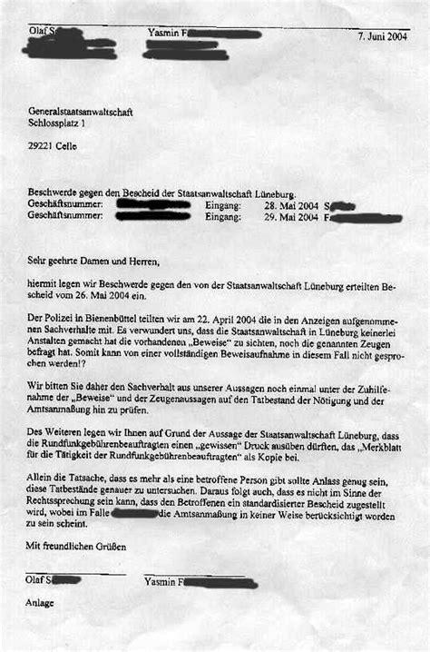 Beschwerdebrief Gegen Nachbarn Schreiben Quot Ich Bin Beamter Der Gez Quot