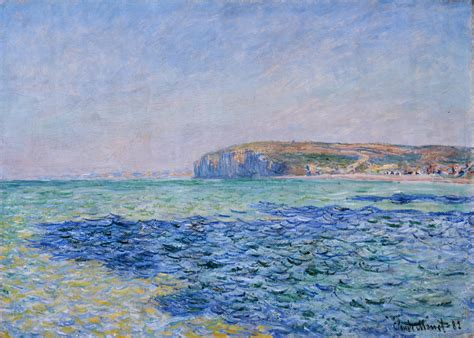 Shadow In The Sea shadows on the sea at pourville 1882 claude monet