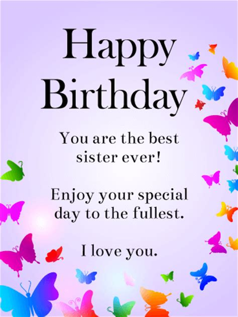 printable birthday cards for a sister birthday cards for sister birthday greeting cards by