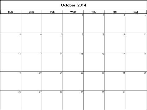 printable calendars october 2014 october 2014 printable blank calendar calendarprintables net