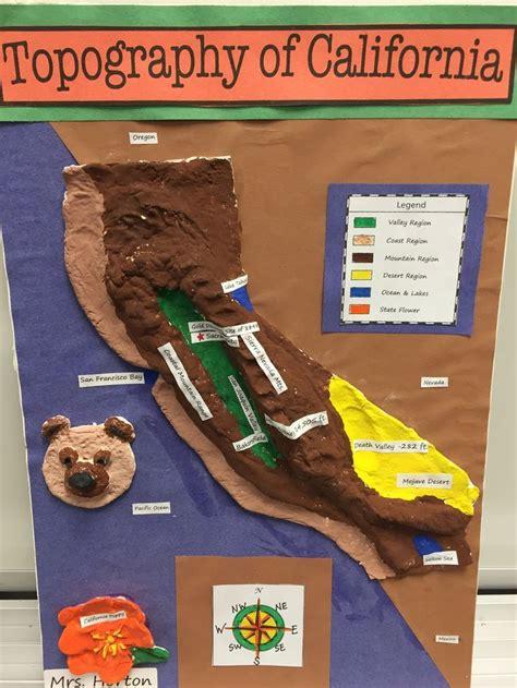 california map regions 4th grade 4th grade california regions topography map all things