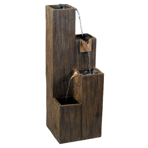 indoor fountains kenroy home 50007wdg timber floor indoor atg stores