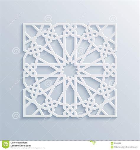 13906275 vector of islamic flower pattern on white stock islamic geometric pattern vector muslim mosaic persian