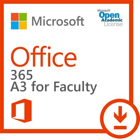 Software Microsoft Office 365 microsoft office 365 plan a3 for faculty windows pc