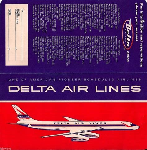 delta airlines dc 8 ticket 1966 vintage travel vintage travel