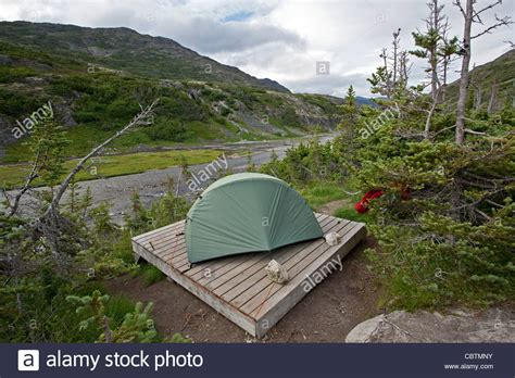 platform tents tent on a wooden platform happy c chilkoot trail wood