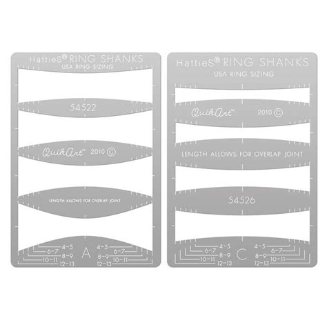 hatties quikart metal clay template set plain ring shanks