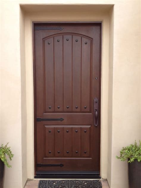 fit doors thermatru door ccr8205 stained walnut hinge straps and