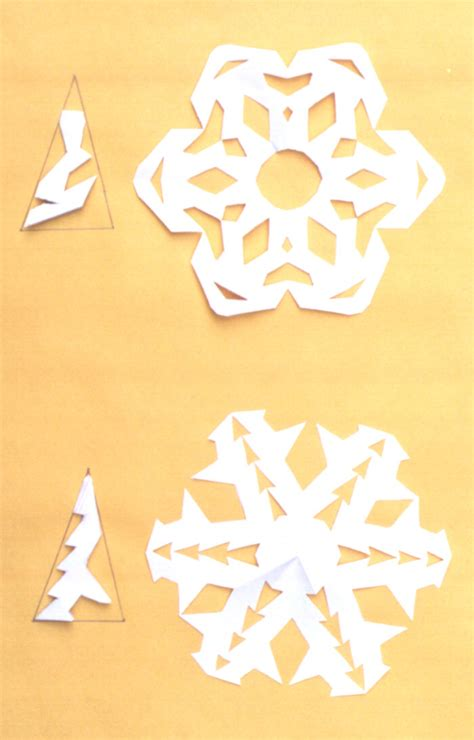 How To Make A Snowflake With Paper And Scissors - paper snowflakes free