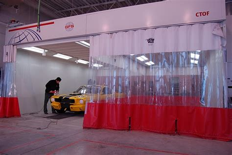 auto body shop curtains bci goff s curtain walls