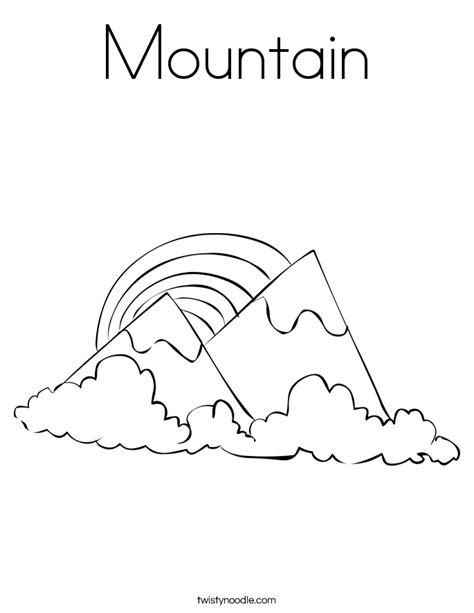 mountain picture black and white coloring page coloring home