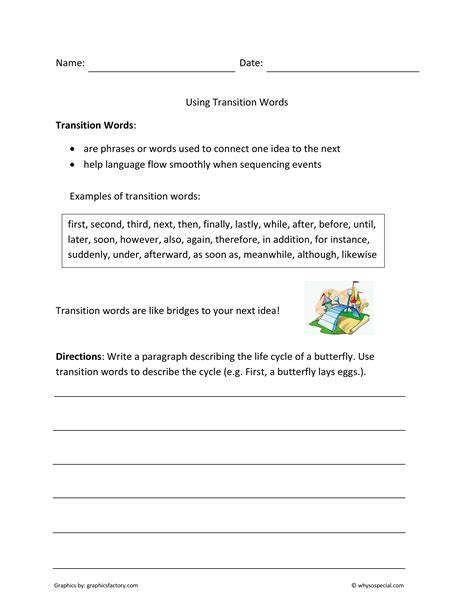 transition words for 5 paragraph essays about summer speech